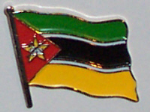 Mozambique Country Flag Enamel Pin Badge